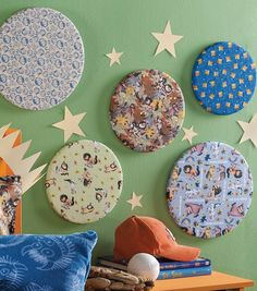 Love these easy #DIY Where the Wild Things Are wall hangings made with embroidery hoops!