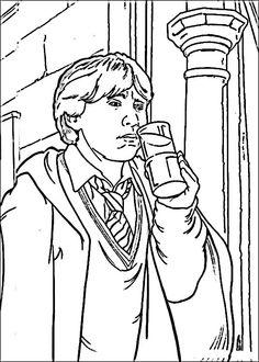 Harry Potter Tegninger til Farvelægning. Printbare Farvelægning for børn. Tegninger til udskriv og farve nº 16