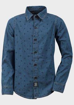 Boys Long Sleeve Denim Shirt  #shoppingday #shoppingonline #Oasislync #clothes #kidsclothes #onlinestore #instagram #fashion #canada #fashionstyle
