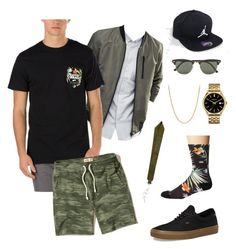 """""""Summer Chill"""" by taylor474474 on Polyvore featuring ASOS, Vans, David Yurman, Ray-Ban, Hollister Co., Caravelle by Bulova, Jordan Brand and Givenchy"""