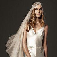 2013 Giulietta Veli Vintage White, Ivory Wedding Bridal Veil Applicazioni di Pizzo in Vita Lunghezza Velo di Tulle ZJ122