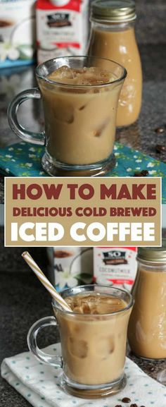 I love iced coffee, especially vanilla iced coffee! Making cold brew coffee is e… I love iced coffee, especially vanilla iced coffee! Making cold brew coffee is easy, but does require a little planning as the brew will need time to steep. Homemade Iced Coffee, Best Iced Coffee, Iced Coffee At Home, Cold Brew Iced Coffee, Iced Coffee Drinks, Making Cold Brew Coffee, How To Make Ice Coffee, Easy Vanilla Iced Coffee Recipe, Cold Brew Coffee Recipe Starbucks