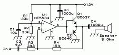 Small Audio Amplifiers Using LM386 and NE5534 | Electronic Circuits Diagram