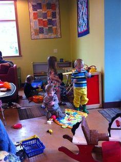 kid friendly coffee shops!  Idea: have a kids corner :)