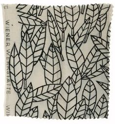 Textiles of Fin-de-Siècle Vienna: April 2010.  Leaves, 1923 Above design by Maria Likarz-Strauss