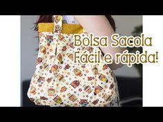 Tia Lili na TV: Bolsa Sacola (com molde!) - YouTube