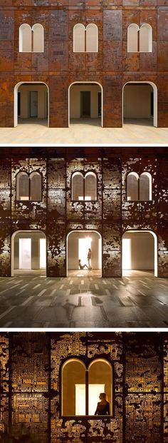 The rebirth of the Campiello, Venice. Corten steel facade