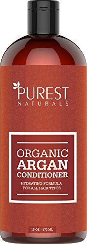 Purest Naturals Argan Oil Daily Conditioner  Best Moisturizing Volumizing Sulfate Free Conditioner for Women Men  Teens  Revives Dry  Damaged Hair  Made With Organic Ingredients * For more information, visit image link.