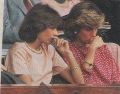 Le 05 juillet 1985 , Diana à  Wimbledon