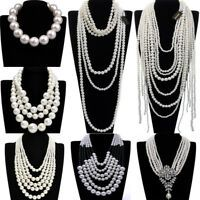 Fashion Jewelry Statement Pearl Beads Armor Shoulder Body Chain Harness Necklace