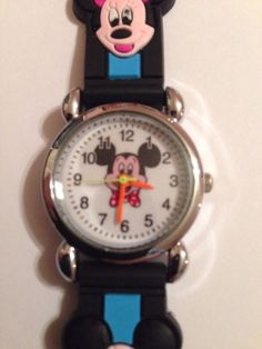 New Black/Blue Mickey Mouse Minnie Mouse Boys/ Girls Watch 3-D #Unbranded #CartoonIdol