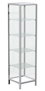 Βιτρίνα πύργος  - Σκελετός αλουμινίου Alushop σε καμπύλη ή καρέ γραμμή.  - Βιτρίνα κλειστή με ανοιγόμενη πόρτα.  - Διαστάσεις: 48x48x182cm.  - 4 γυάλινα ενδιάμεσα ράφια ρυθμιζόμενου ύψους.  - Ο σκελετός είναι χρώματος inox mat μεταλλικής βαφής (Β50) και τα ξύλινα μέρη χρώματος επιλογής από Λευκό (R10), Ασημί τιτάνιο (R52), Σφένδαμο (R93) ή Σημύδα (R92).  - Κλειδαριά extra. Προσθέστε κωδ. F-1005 από την λίστα προϊόντων.  - Ρόδες extra (από τις 4 οι 2 με φρένο) Diy Products, Shelving, Bookcase, Home Decor, Shelves, Decoration Home, Room Decor, Shelving Units, Book Shelves