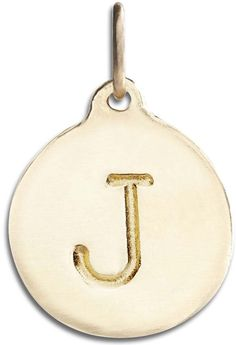 "Helen Ficalora ""J"" Alphabet Charm Yellow Gold. As Seen On: Oprah Winfrey, Julianne Moore, Gwyneth Paltrow, Tina Fey, Anne Hathway, Blake Lively, Jennifer Garner and many more. As Seen In: Ellen, Oprah, Martha Stewart, Glamour, Vogue, People Magazine, The Real Housewives, Steve Harvey, The Price is Right and many more. Made With Real Solid 14k Gold. Made in the United States. *Products May Appear Larger In Photos Than In Person."
