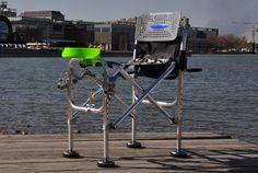 Multifunctional folding fishing chair anti - shaking table chair fishing stakes fishing stool fishing supplies  free  shipping