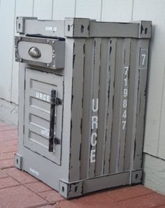 Distressed Side Table - Container Chest with Drawer and Storage by TickledTealBoutique, $299.00