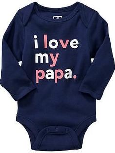 """<span class=""""styleDescriptionSpan"""">""""I Love My ..."""" Graphic Bodysuits for Baby</span>"""