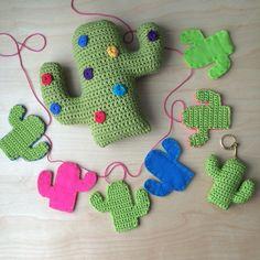 Cactus, Cactus, Cactus - Pdf Pattern for Crochet Cactus Keyring and Cactus…