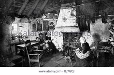 CROFTER'S COTTAGE, SCOTLAND …. A CROFTER LIVES AND WORKS THE LAND FOR A LANDLORD --- TO WHOM HE PAYS RENT…….ccp