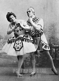 Maria Mariusovna Petipa & Sergei Gustavovich Legat portrait of the Russian ballet dancers in La Fille du Pharaon . Choreography by Marius Petipa . Performed at Maryinsky Theatre in St . Petersburg , 1890 .