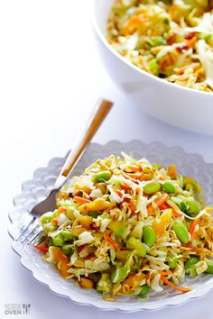 Gimme Some Oven | Crunchy Asian Ramen Noodle Salad (a.k.a. Basically The Best Potluck Salad EVER) | http://www.gimmesomeoven.com