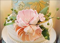 Vera's Peach and Green themed party - Cake Peach And Green, Party Cakes, 1st Birthday Parties, Party Themes, Bridal Shower, Shabby Chic, Fun, Wedding, Shower Cakes