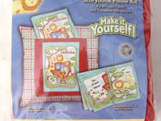 Noah's Friends Storybook Pillow Kit Child Fabric Book with Matching Pillow | eBay