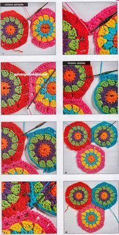 Cómo tejer hexágonos a crochet paso a paso | Crochet y dos agujas