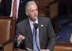 Trey Gowdy Gets Standing Ovation for Passionate Floor Speech        At least one man in Washington, D.C. still believes in the importance of enforcing the law.  That man is Trey Gowdy, the Republican Representative from South Carolina.