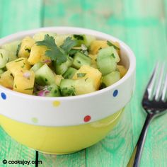 Cucumber Pineapple Salad   Sweet, savory, vegan