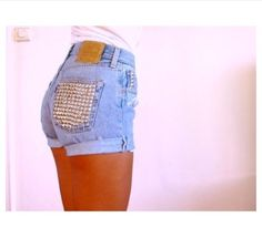 High wasted shorts + studs =