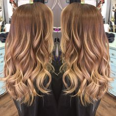 Love my blonde balayage. Hair by Cait