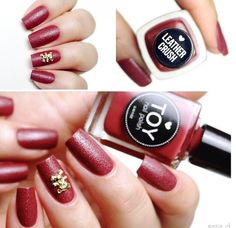 Leather effect nail polish in red - also available in black    #rosemonkeys.com Nail Polish, Nail Art, Toys, Nails, Red, Leather, Beauty, Black, Activity Toys