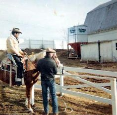Elvis at his Ranch the circle G Ranch Riding his Beautiful horse Rising Sun with Mike McGregor.
