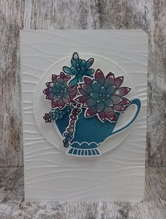 'Oh So Succulent' , 'Succulent Framelits Dies' ,'A Nice Cuppa', Stampin'Up! gemaakt door www.stamp-ing.blogspot.nl ,Stamp-ing Rilland