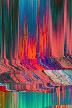 "Glitch art is the aestheticization of digital or analog errors, such as artifacts and other ""bugs"", by either corrupting digital code/data or by physically manipulating electronic devices (for example by circuit bending). Glitch Art, Psychedelic Art, Grafik Design, Op Art, Graphic, Trippy, Textures Patterns, Art Inspo, Contemporary Art"