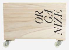 Su0220 - Box auf Rädern, Organize, 44x31x23 cm  44x31x23 cm