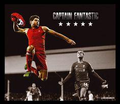 Captain Fantastic Liverpool Football Club, Liverpool Fc, Captain Fantastic, Steven Gerrard, Soccer, Darth Vader, Fictional Characters, Football, Soccer Ball