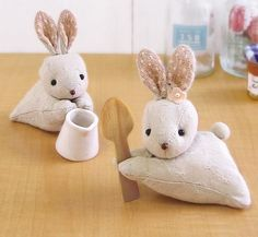 Fabric bunny holder