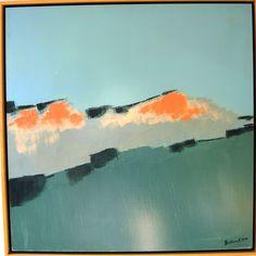 paisaje, acrílico sobre tabléx