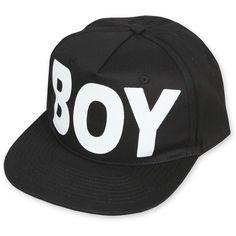 Boy London Snapback Cap Black ❤ liked on Polyvore featuring accessories, hats, boné, snapback hats, snap back hats, cap hats, boy london snapback and boy london cap