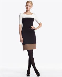 White House Black Market Colorblock ponte dress
