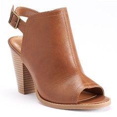 LC Lauren Conrad Women's Peep-Toe Booties #Kohls