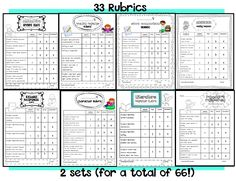 Sarah's First Grade Snippets: Reading Response Rubrics and Prompts Pack (freebie too)