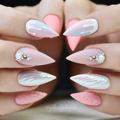 18 Acrylic Nails Ideas that You Can't Pass by ★ Stiletto Shape Acrylic Nails Picture 6 ★ See more: http://glaminati.com/acrylic-nails/ #acrylicnails #nailsdesigns