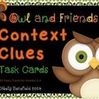 Use these adorable context clues task cards in small groups, centers, stations, or with your whole group while playing a fun game. They are also gr...