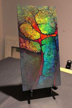 "CAROL NELSON FINE ART BLOG: ""Glowing Stones"" mixed media geologic abstract © Carol Nelson Fine Art"