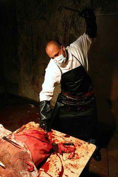 butcher costume/ haunted house scene