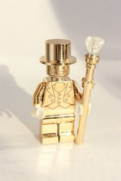 LEGO MR GOLD Custom Gold Chrome Minifigure with by Tinkerbrick
