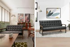 Qanvast's Picks: 9 Products from Shopee for A Stylish Home | Qanvast Wooden Bed Frames, Settee Sofa, 3 Seater Sofa, Tray Decor, Interior Design Living Room, Interior Inspiration, Living Room Furniture, Stylish, Home Decor