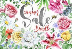 Floral BUNDLE - SUMMER SALE by Eva-Katerina on @creativemarket